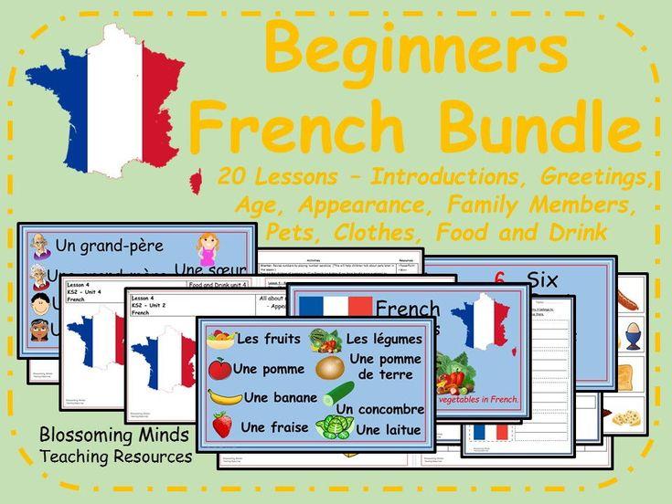 Beginner French 20 lesson bundle - KS2