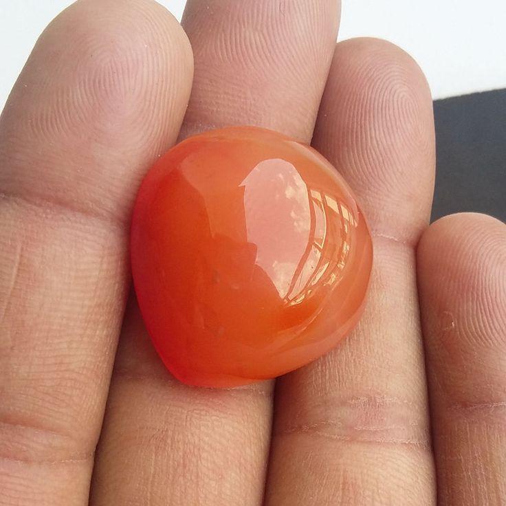 48 ct Natural Agate Orange Gemstone 00A#b