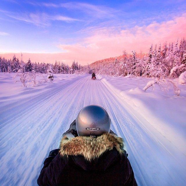 snowmobile safari, Ylläs, Finland [by Kyle Kuiper]