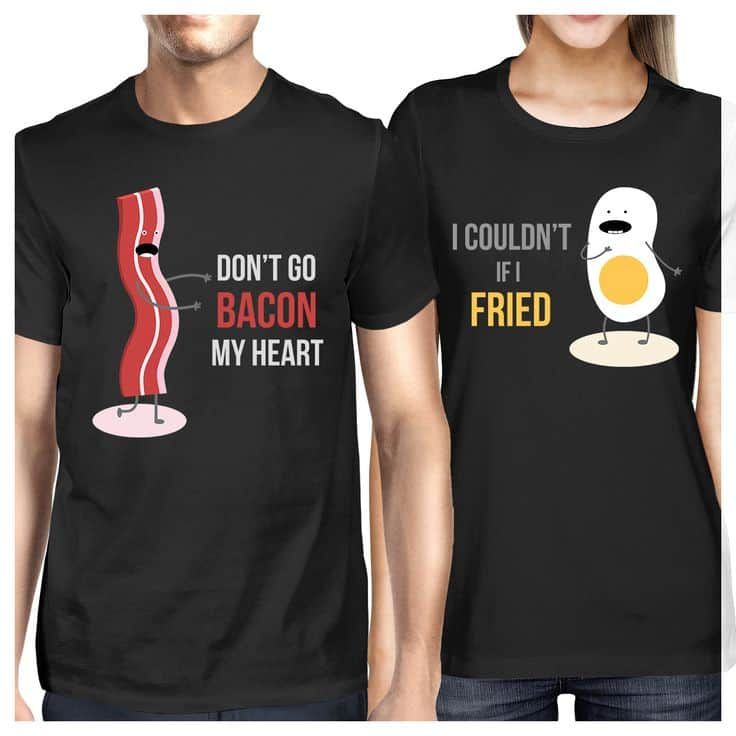 Love You Heart Twin T shirt Set Partner Valentine His and Her Lovers Gift