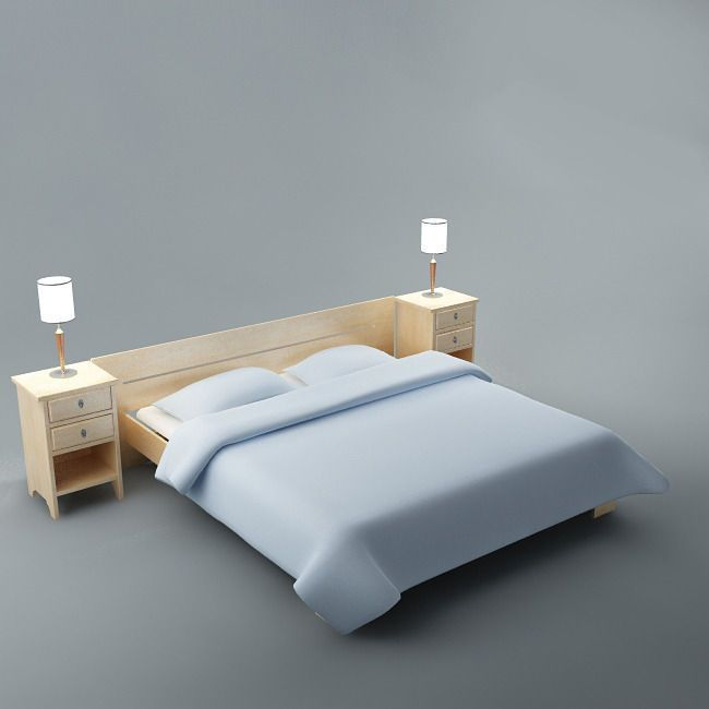 Bed By Flob3d Bed Rendering Realistic 3ds Max 8 Vray Textures Materials Included You Can Buy This 3d Model For 6 5 On Bed Furniture Bed Furniture