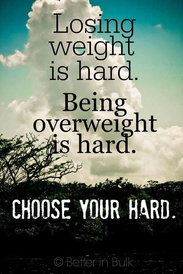 CHOOSE your hard!