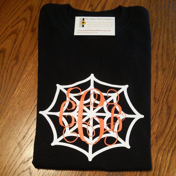 monogrammed halloween treat bags