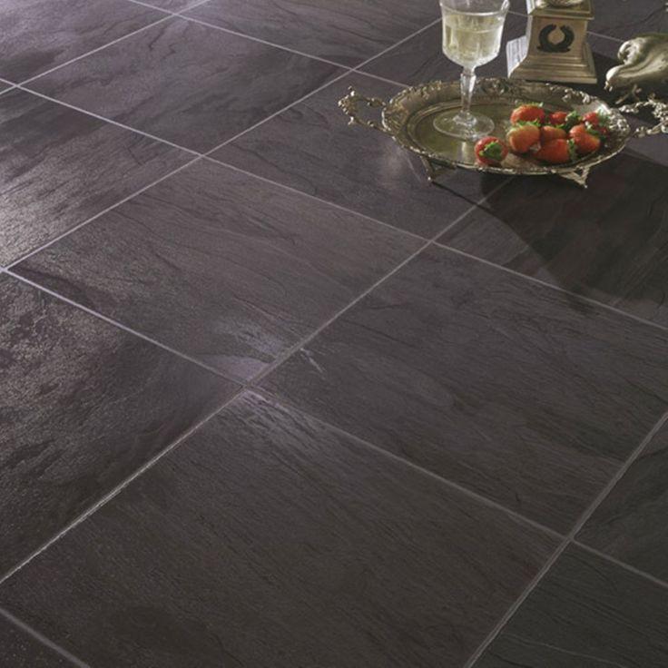 Black Slate Laminate Flooring, Black Slate Waterproof Laminate Flooring
