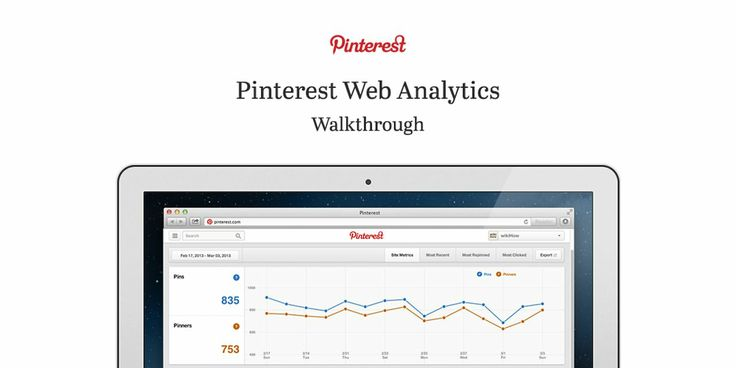 Great breakdown of Pinterest Web Analytics for businesses looking to make the most of Pinterest! Pinterest Web Analytics Walkthrough. For more information visit business.pinterest.com