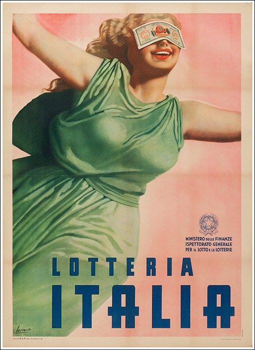 #Lotteria #Italia #original #vintage #poster manifesti originali d'epoca www.posterimage.it