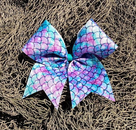 Mermaid Cheer Bow/Mermaid Bow/Cheer Bow/Bow/Mermaid/Birthday Gift/Girl Gift