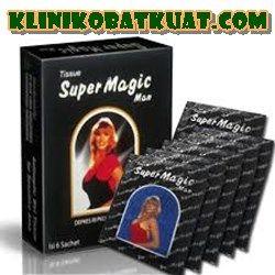 Tissue magic super untuk pria tahan lebih lama dalam bercinta, aman tanpa efek samping, solusi keharmonisan keluarga.