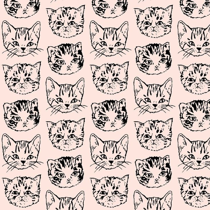 about Cat Pattern Wallpaper on Pinterest  Cat Prints, Print Patterns