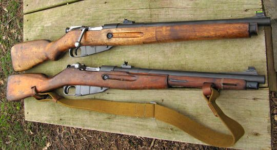Two converted mosins, check the source for additional information.. My love for the mosin is kinda confused here.