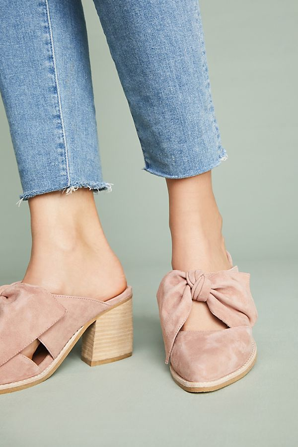 663049bffa49 Jeffrey Campbell Cyrus Bow Mules  anthropologie Frock And Frill