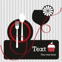 restaurant menu background vector set