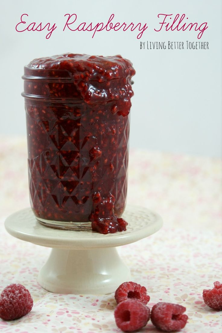 Easy Raspberry Filling - 4 ingredients: 20 minutes