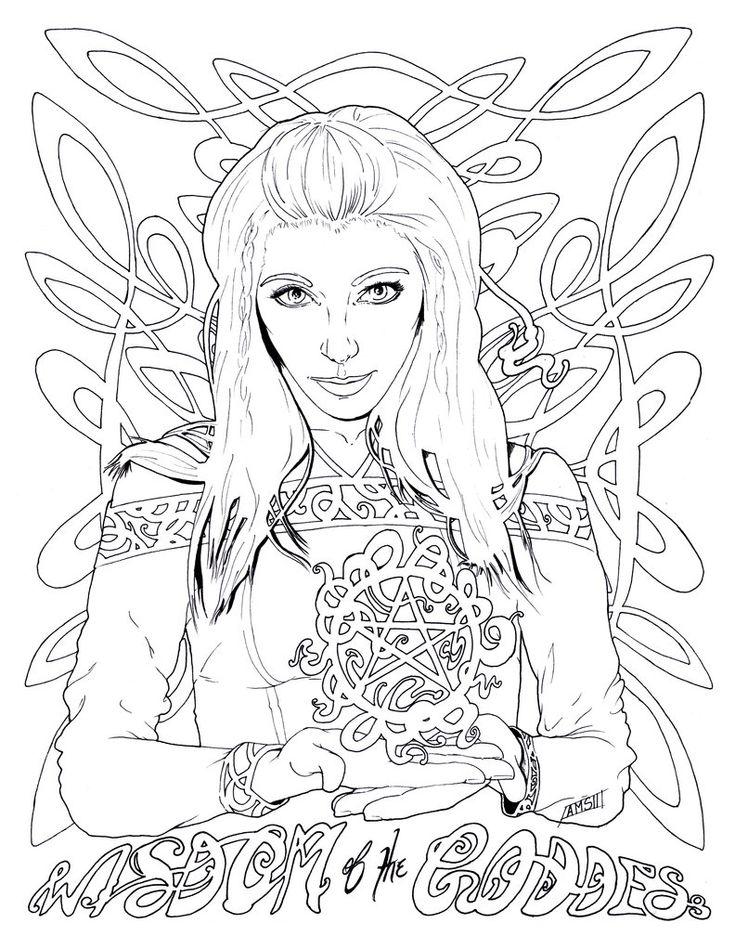 63 best Goddess ~ Adult Coloring images on Pinterest