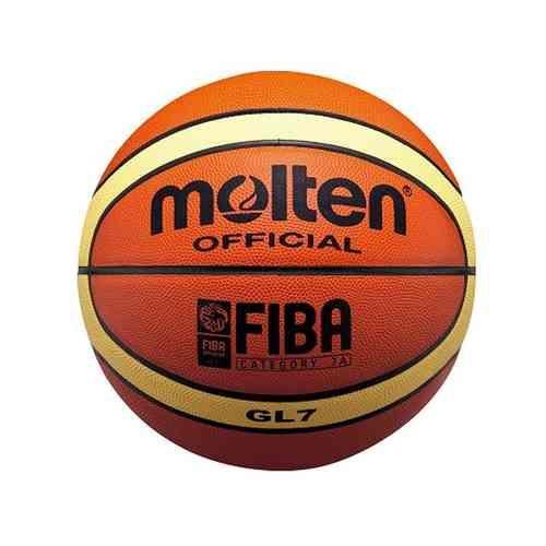 Balón Molten BGL7, balón oficial de la Selección Española de Baloncesto de cuero natural www.basketspirit.com/Molten