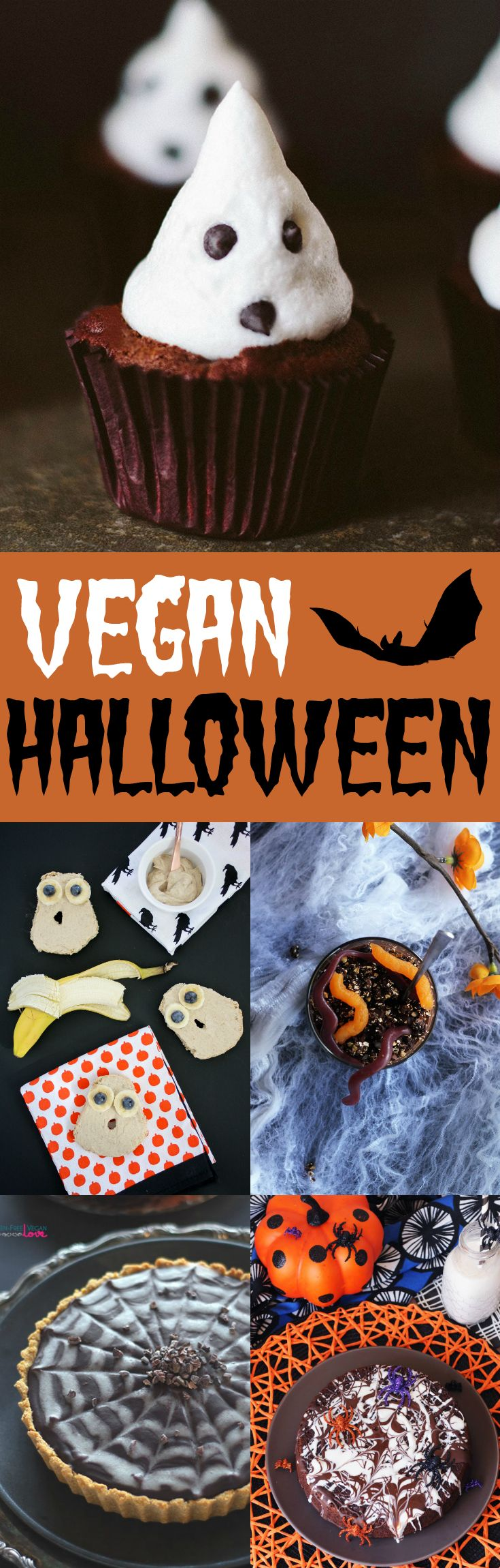 13 spooky vegan Halloween recipes that are so much fun to make! A perfect collection of appetizers and sweets for your Halloween dinner party or buffet.