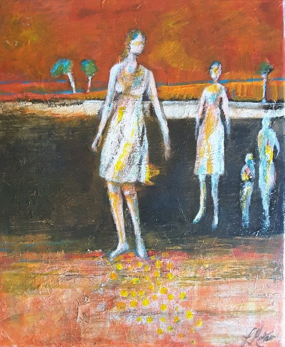 Lynne Mettam, After the Fire, Acrylic on Canvas $130