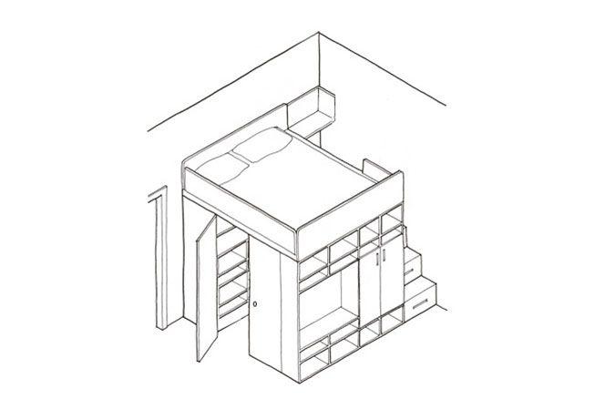 2 progetti per una cabina armadio fai-da-te sviluppata in altezza