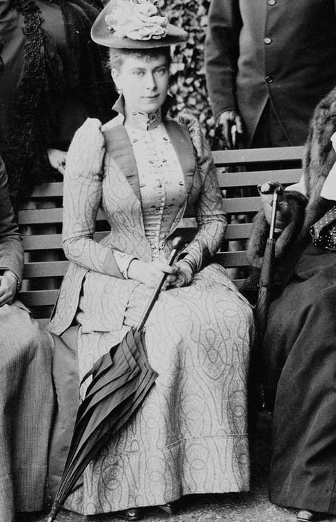 Queen Mary when Princess Victoria Mary of Teck in 1891.