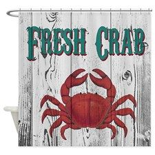 Fresh Crab Shower Curtain For