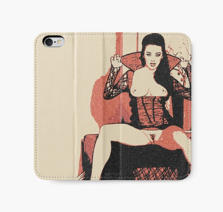 Trick or treat? Naughty Halloween vampire girl, nude iPhone Wallet   Also Available as T-Shirts & Hoodies, Men's Apparels, Women's Apparels, Stickers, iPhone Cases, Samsung Galaxy Cases, Posters, Home Decors, Tote Bags, Pouches, Prints, Cards, Mini Skirts, Scarves, iPad Cases, Laptop Skins, Drawstring Bags, Laptop Sleeves, and Stationeries #sexy #erotic #art #spooky #halloween
