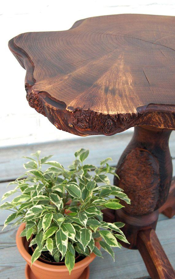 Rustic coffee table Live edge table Wood slab coffee table End