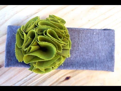 Fluffy Flower Headband عصابة رأس مزينة بزهرة جميلة للفتيات