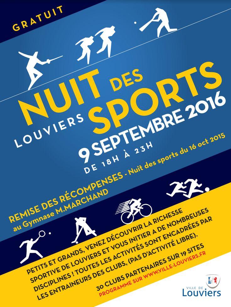 Participez à la 4ème Nuit des Sports à #Louviers
