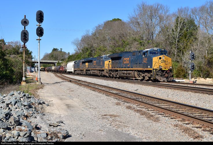 RailPictures.Net Photo: CSXT 3308 CSX Transportation (CSXT) GE ET44AH at Hamlet, North Carolina by Christopher Rambo