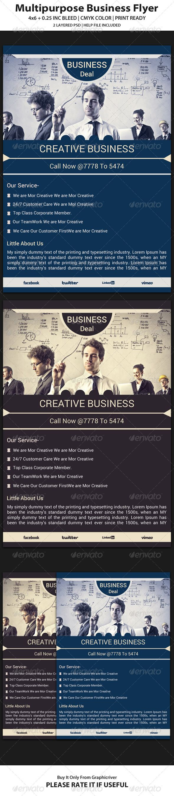 Color printing bu - Business Flyer Template 12