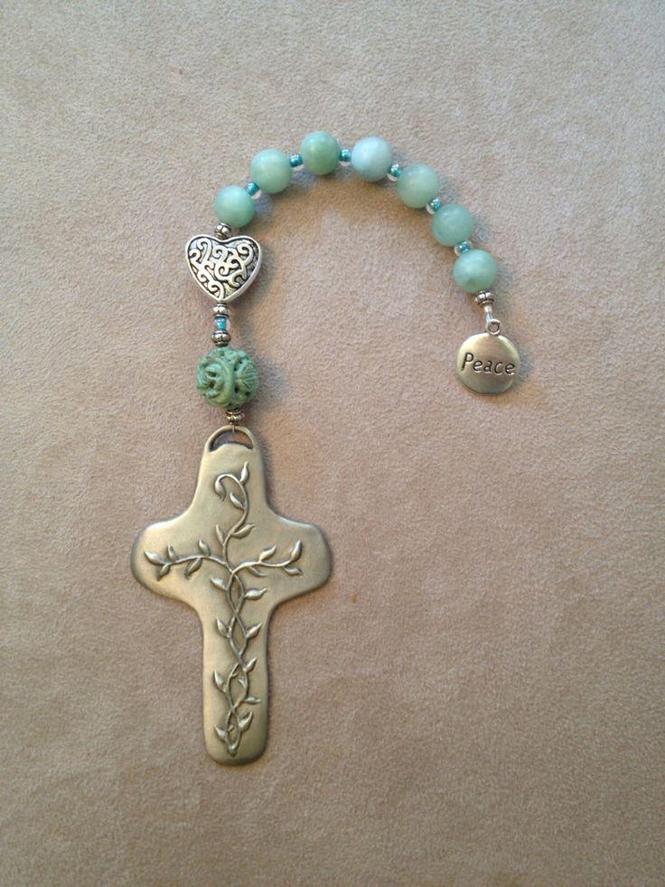 Handmade pocket Christian prayer beads reminding us of God's love.