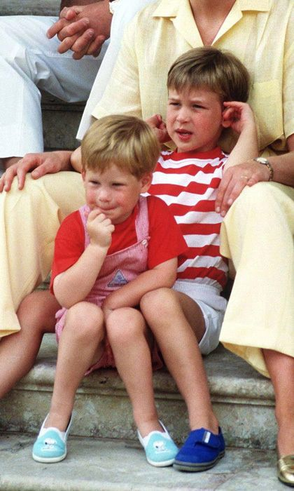 """Y: YOUNGER SIBLING   When Harry was born, his father Charles reported that """"William has taken to the new baby like a duck to water"""" It is hoped the same will soon be said of George. As first-born children in each of their families, both William and Kate are close with their siblings. George and his new sister or brother will be 21 months apart, a happy medium between William and Harry (27 months) and Kate and Pippa (19 months). Photo: © Terry Fincher/Princess Diana Archive/Getty Images"""