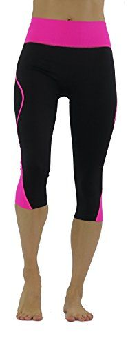 Vesi Star Womens Knee Fitted Leggings Yoga Workout LXL Black  Pink >>> You can find out more details at the link of the image.(This is an Amazon affiliate link and I receive a commission for the sales)