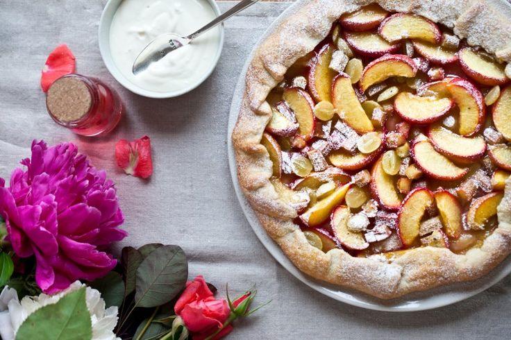 Křehký letní ovocný koláč - Galleta