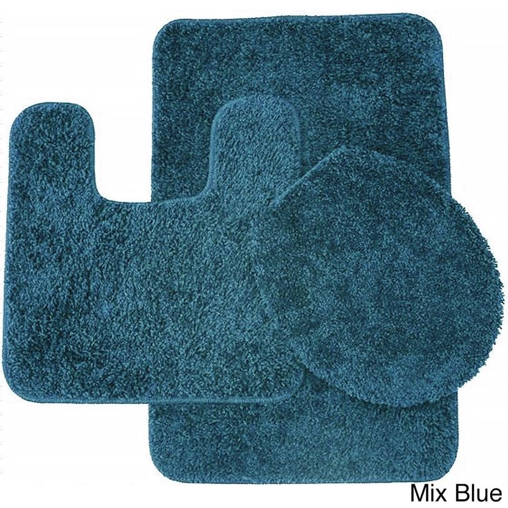 3piece frieze bathroom rug set