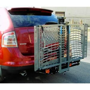 WheelChair Carrier Patriotic Lift - WheelChair Carrier Outside Power Vehicle Lift