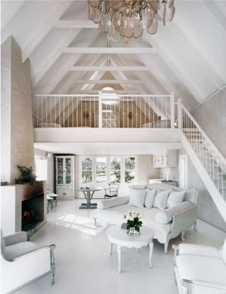 I want a beach cottage in Oregon that looks just like this. Maybe more primitive:) Id love 10 bunk beds for kids and 2 rooms on the main level. I want a great kitchen, not necessarily large and an open living area just like this!