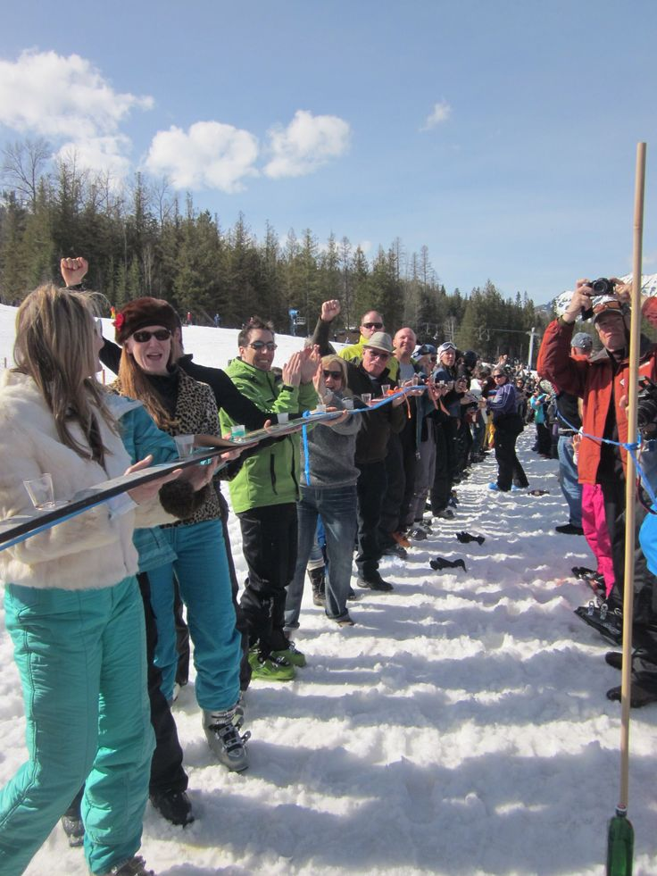The longest shot ski ever!  YES, this happened! https://www.youtube.com/watch?v=4Xred1rfqVU