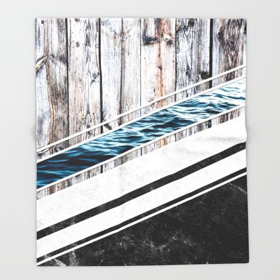 Striped Materials of Nature I Throw Blanket  #wood #wooden #marble #stone #sea #ocean #stripe #stripes #striped #nature #texture #blanket #throwblanket #homedecor