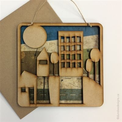 City - Greeting Card/Wall Art by Shirley Lloyd-Davies, Dundee Designs Inc.