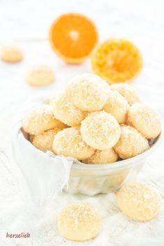 Orangen Kugeln Rezept // Kekse Rezept // Cookies Recipes //herzelieb