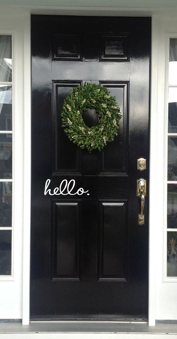 Hello Decal Hello. Vinyl Decal for your Front by OZAVinylGraphics, $7.00
