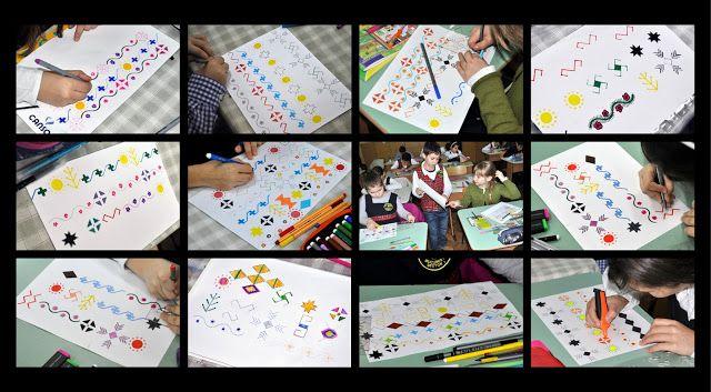 Semne Cusute: copiii invata motivele traditionale - lectia 1
