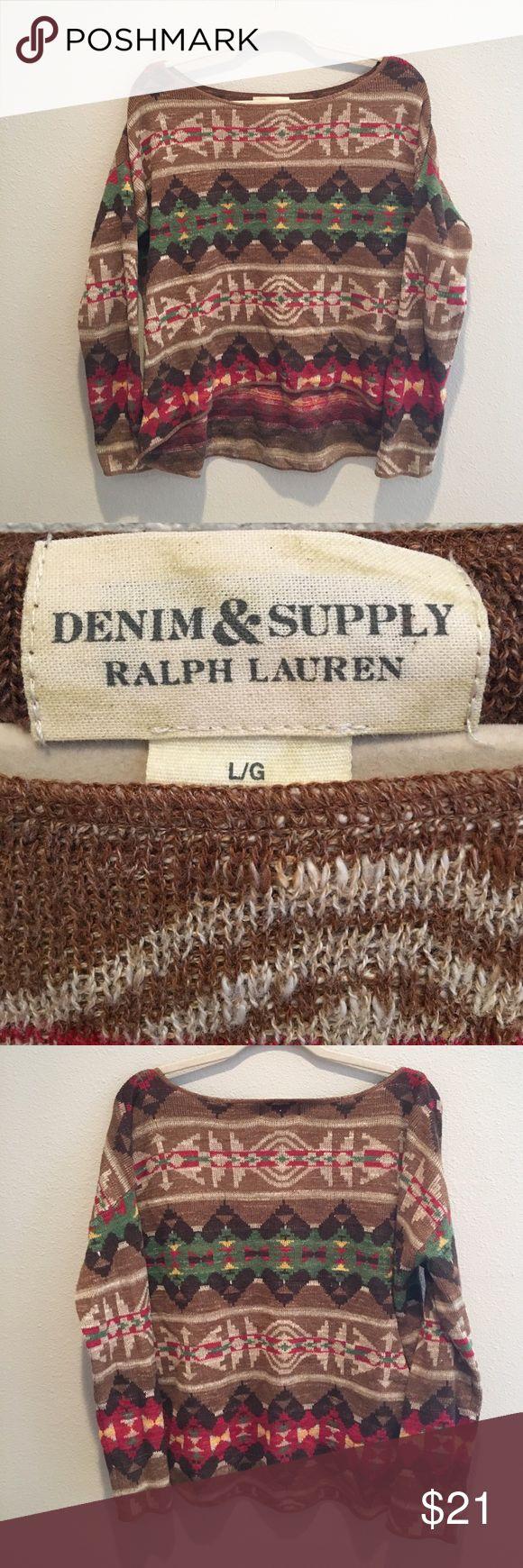 Denim & Supply Ralph Lauren Tribal Sweater Denim & Supply Ralph Lauren Tribal Sweater Worn Once Size Large **Garments Will Be Steamed Before Shipping** Denim & Supply Ralph Lauren Sweaters Crew & Scoop Necks