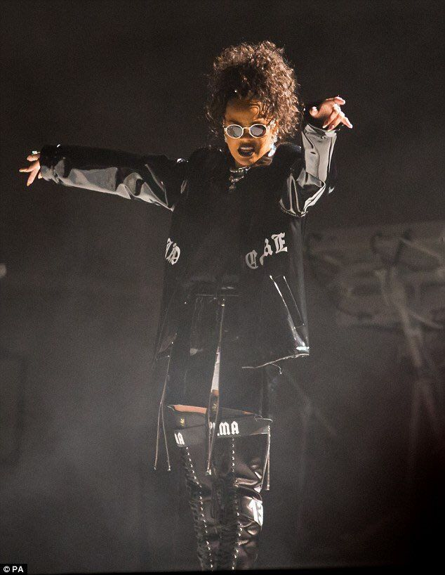 21 August 2016 - Rihanna hits the stage on night two of this year's V Festival as the headline acts.  The festival takes place across two sites, Weston Park in Staffordshire and Hylands Park in Chelmsford, over one weekend, with the line-ups trading locations for the second day.  Pop superstar Bieber was up first in Chelmsford, while Rihanna took on Staffordshire for the Saturday night show
