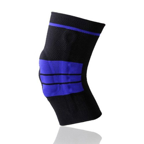 1 Pcs Basketball Knee Pad Sport Safety Football Volleyball Silicone Knee Brace Tape Knee Support Calf Protection L389