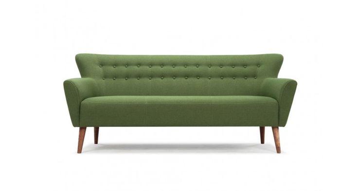 Ellen, 3-seater sofa, Liby Sage green