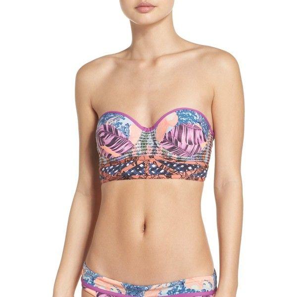 Women's Maaji Dancing Queen Bustier Bikini Top ($72) ❤ liked on Polyvore featuring swimwear, bikinis, bikini tops, multicolor, corset bikini, maaji bikini, swimsuit tops, underwire swimsuit tops and underwire swimwear