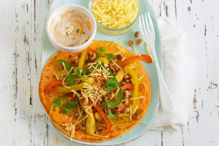 Deze Mexicaanse wraps zitten boordevol groenten, boordevol pit én boordevol fiesta - Recept - Crispy kipfajita - Allerhande