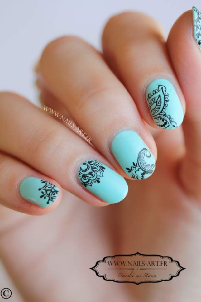 by shaonleebhat-Henna nail art